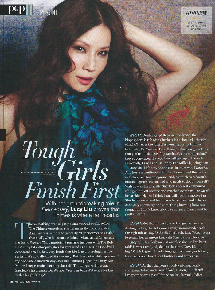 Lucy Liu - CBS Watch! Magazine